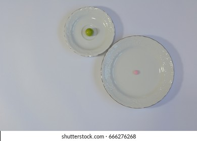 Pills vs vegetables and fruits: plum vs pink pill
