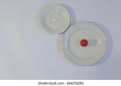 Pills vs vegetables and fruits: plum vs 4 white pill