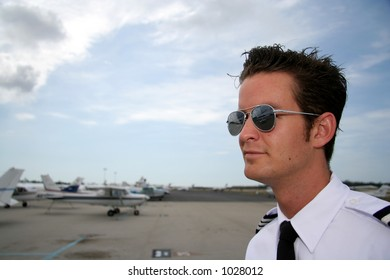 Pilot at the airport