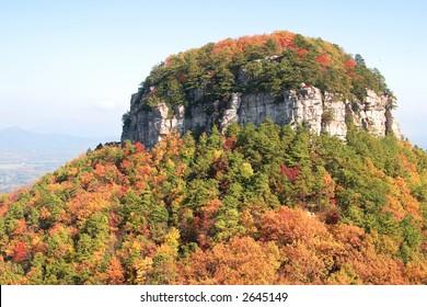 Pilot Mountain in Fall, North Carolina