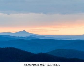 Pilot Mountain Sunrise