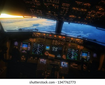 Pilot view from cockpit