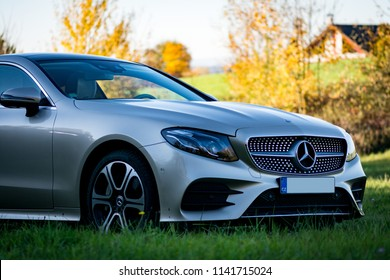 Pilsen, Czech republic - 10 15 2017: Mercedes Benz E400 Coupe
