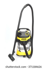 PILSEN, CZECH REPUBLIC - FEBRUARY 2, 2015: High power vacuum cleaner Karcher MV5 for industrial use. Karcher a worldwide manufacturer for cleaning equipment. Exists for more than 75 years.