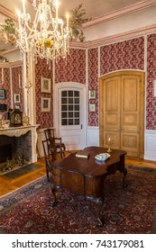 PILSRUNDALE, LATVIA - JUNE 22, 2016: Interior of Rundale palace in a beautiful summer day in Pilsrundale, Latvia on June 22, 2016