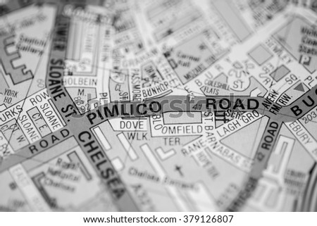 Pimlico London Map.Pimlico Road London Uk Map Stock Photo Edit Now 379126807