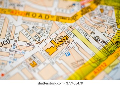 Pimlico School & Youth Center. London, UK map.