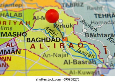 pin in baghdad city and capital of iraque