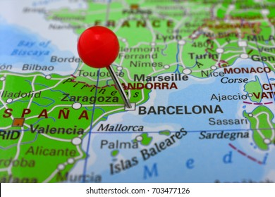 Pin in Barcelona, Spain