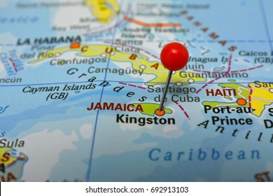 Pin in Kingston, capital of Jamaica