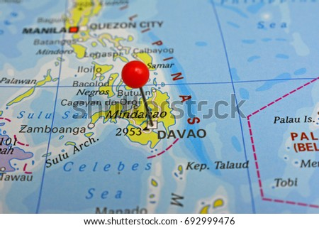 Pin marked davao city philippines stock photo edit now 692999476 pin marked davao city in the philippines gumiabroncs Image collections