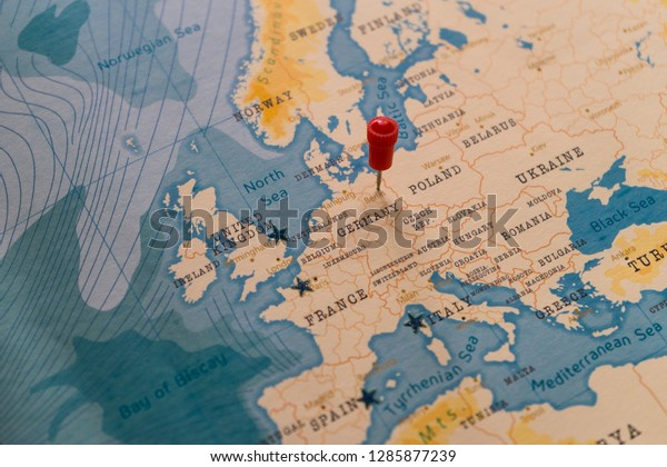 Pin On Berlin Germany World Map Stock Photo Edit Now 1285877239