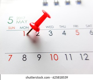 Pin on the date number 1. Push pins marked date on calendar. MAY 1st The Labour day