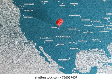 pin on felt painted map, america