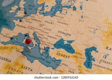Italy In World Map Stock Photos Images Photography Shutterstock