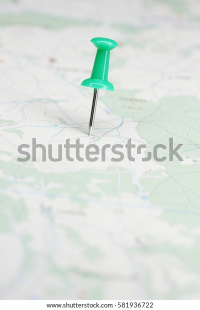 Pin on route map.