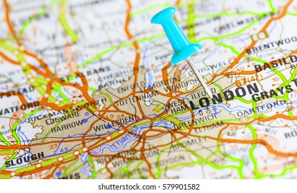 Pin on route map london england stock photo royalty free 579901558 pin on route map london england gumiabroncs Choice Image