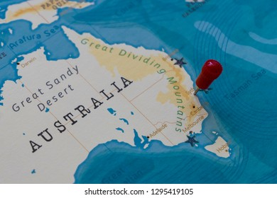 Great Sandy Desert World Map.Australia Political Map Stock Photos Images Photography