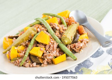 Pinakbet or pakbet is an indigenous Filipino dish from the northern regions of the Philippines made from mixed vegetables and longaniza sausage steamed in fish or shrimp sauce.
