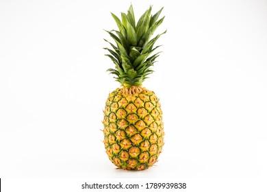 Pinapple photo on white background