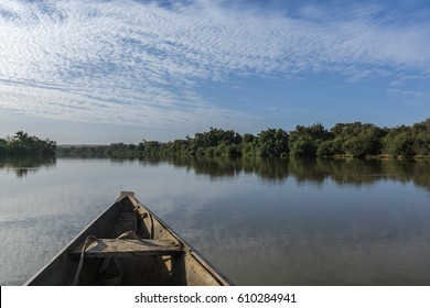 Pinasse Boat on the Niger River, Niger, West Africa