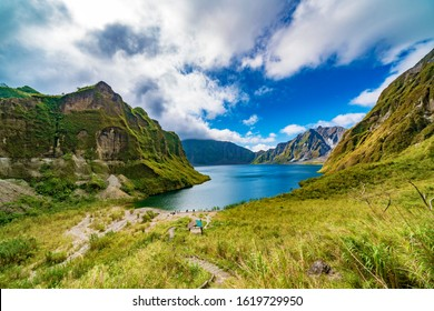 Pinatubo volcano crater in Philippines