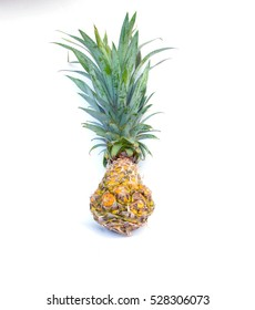 pine apple on white background,isolate fruits.