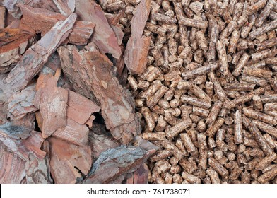 Pine biomass and pellets - renewable energy