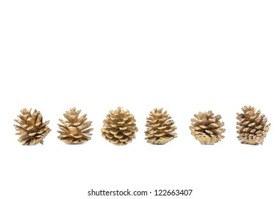 Pine Cones on white isolated