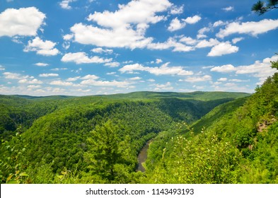 Pine Creek Gorge, also called the Grand Canyon of Pennsylvania. A 47 mile long, 1000 foot deep gorge that winds through north-central Pennsylvania.