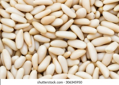 Pine nuts background.