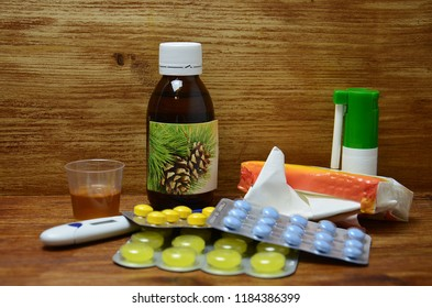 Pine syrup and medicine for autumn cold