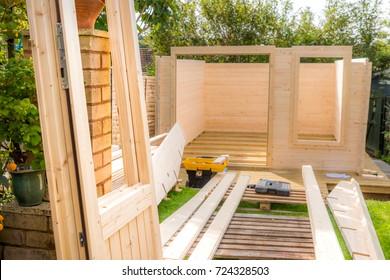 Pine timber garden shed studio construction