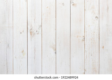 Pine wood plank texture painted with white color for use as wood pattern, background, backdrop, table top, wall plank, floor plank, etc.