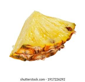 pineapple ananas slice chunk isolated