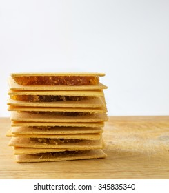 pineapple bread on wood table
