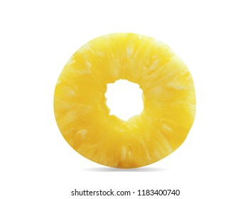 Pineapple of cut on a white background.