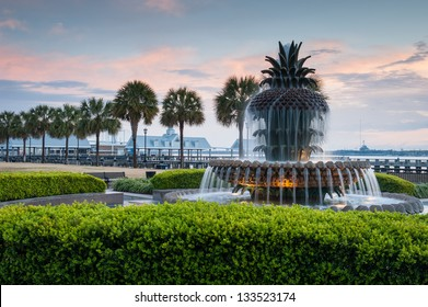 Pineapple Fountain Charleston South Carolina's Waterfront Park