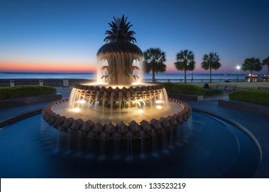 Pineapple Fountain Charleston South Carolina's Waterfront Park