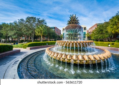 The Pineapple Fountain, at the Waterfront Park in Charleston, South Carolina.