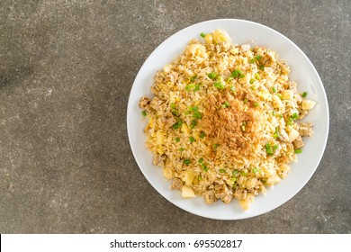 pineapple fried rice with dried shredded pork