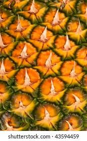 Pineapple fruit close-up.