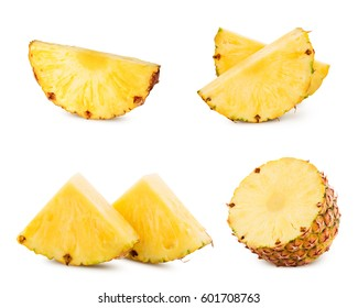 pineapple fruit isolated on white pineapple Clipping Path