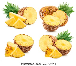 pineapple fruit isolated on white pineapple