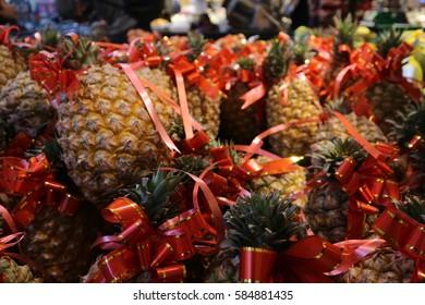 Pineapple fruit for sale in super market