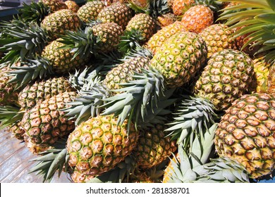 pineapple fruit and vegetable market cancun mexico peninsula of Yucatan