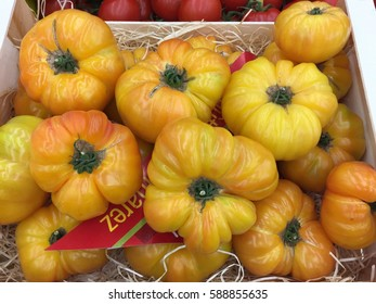 Pineapple heirloom yellow tomatoes