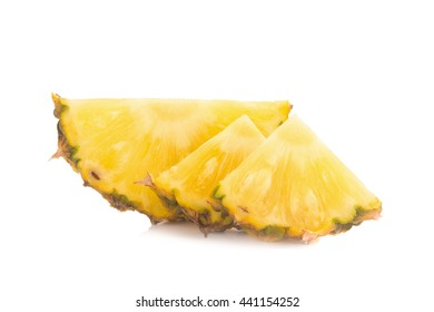 Pineapple isolated no white Background.
