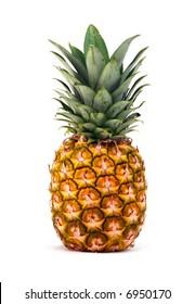Ananas einzeln auf weißem Hintergrund