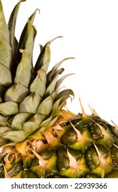 pineapple macro shot